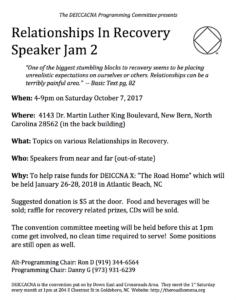 """Relationships"" Speaker Jam 2 / DEICCACNA X Convention Fundraiser @ Faith United Methodist Church | New Bern | North Carolina | United States"
